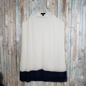 Very J   Pleated Dress with Spaghetti Straps   S
